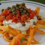 Fettuccine di Carote al Pesto vegetale (100 % Raw vegan)