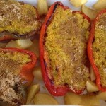 Peperoni ripieni di miglio e curcuma
