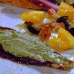 Barchette di radicchio con crema di tofu e insalata saporita di finocchi